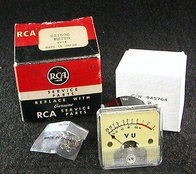 -20 To 3 Vu Volume Panel Meter For Tube Audio Amplifier - Rca Cn 945764