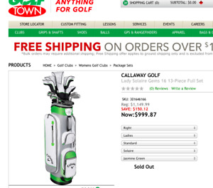 Brand New Ladies Callaway Solaire Gems 13 piece Golf Clubs