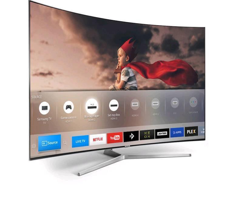 Samsung Ue49ku6670 49 Smart 4k Ultra Hd Hdr Curved Led Tv New Model Like