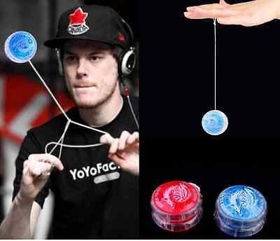 2pcs Flashing LED Glow Light Up YOYO Party Colorful Yo-Yo Toys For Kids Boy Cute