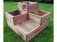 Rustic Three Tier Planter. Pressure Treated Timber. Quality Construction.