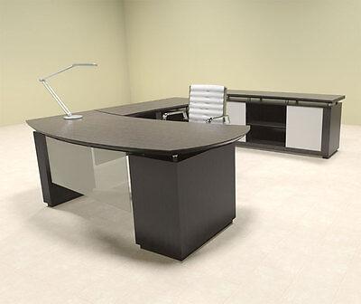 2pc Modern Contemporary L Shaped Executive Office Desk Set Mt-ste-l6