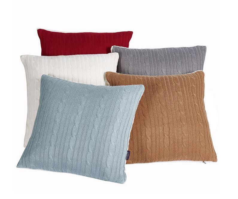 Cozy Cable Knit Throw Pillow NEW Bedding