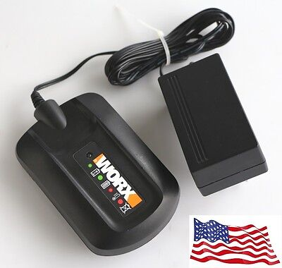 WA3732 WA3742 WORX 3 to 5 Hour LED Charger Lithium Battery WA3520 3525 WA3512.1