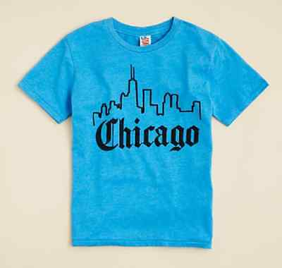 Bloomingdale's Junk Food Boys' Chicago Tee, Ocean, Size M(8), MSRP $32 - Boys Food