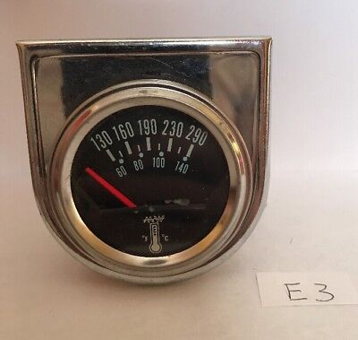 Vintage Temperature Electrical Gauge Meter With Mounting Hardware Steampunk E3