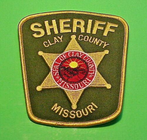 """CLAY COUNTY MISSOURI  MO  SHERIFF 4 7/8""""  POLICE PATCH  FREE SHIPPING!!!"""