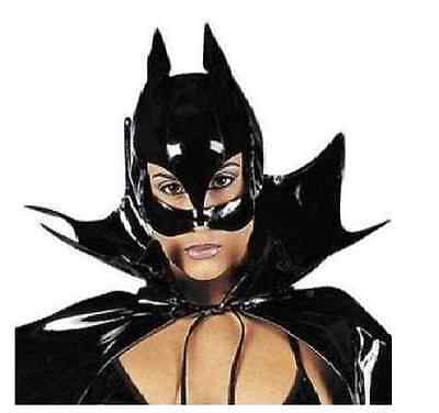 Mask Costume Pussy Cat Catwoman PVC Vinyl Black Costumes Carnival Hallowen](Pussy Costume)