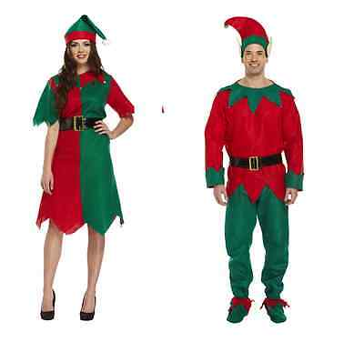 ADULTS ELF COSTUMES MALE OR FEMALE CHRISTMAS GROTTO PARTY  DRESS UP - Elf Dressing Up Costume