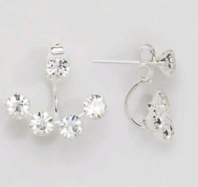 Kingsley Ryan Sterling Silver Gemset Through & Through Earrings