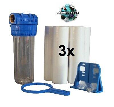 """Filtergehäuse Set 10/"""" x 3//4/"""" 1 x Eisenfilter Vor Filter Hauswasserwerk Brunnen"""