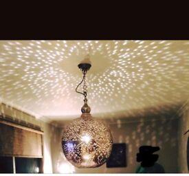 Large Metal Ethched Light