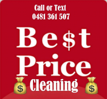 End of lease cleaning, carpet steam cleaning 4 room 88$, windows