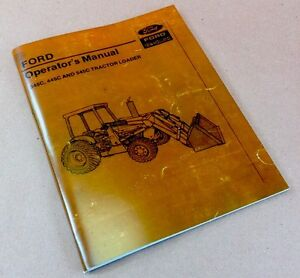 ford    tractor loader operators owners manual