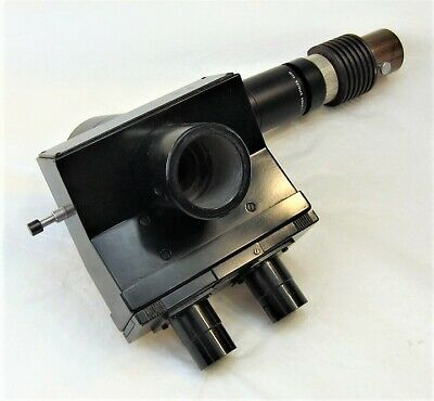 Leitz Wetzlar Trinocular Microscope Head W Illuminator Tube Attachment 1x