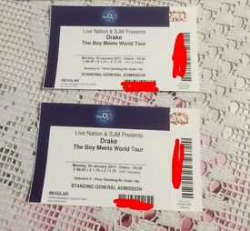 2x Drake Standing Paper tickets 30th Janaury