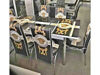 BRAND NEW DINING TURKISH DINING TABLE 6 CHAIRS SET