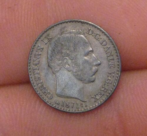 Denmark - 1871 Silver 4 Skilling - Very Nice!