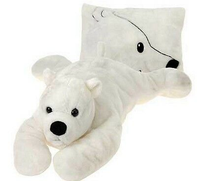 "Fiesta Toys 18"" Plush PEEK-A-BOO PILLOW, POLAR BEAR ~NEW~"