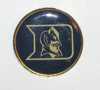 Lapel Hat Pin Duke Blue Devils Round NEW ACC