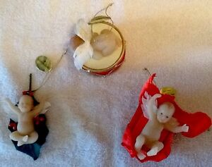 Ashton-Drake Santa's Little Angels Christmas Ornaments- Set Of 3