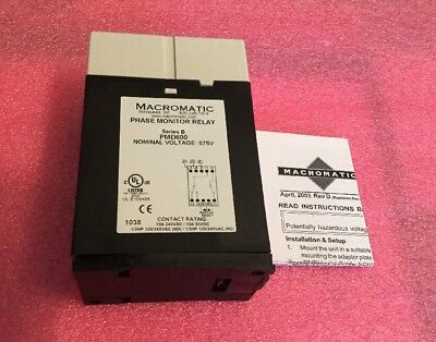 Macromatic Pmd600 Phase Monitor Relay