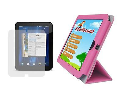 Tulip Pink Folio Case Skin Cover + Screen Protector For H...
