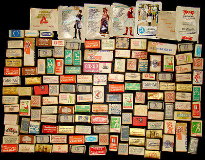 Lot of 140 ANTIQUE Vintage ADVERTISING SUGAR CUBES & PACKETS / Label Collection