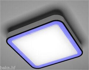 led rgb deckenleuchte dimmbar fernbedienung designleuchte wohnzimmer lampe ebay. Black Bedroom Furniture Sets. Home Design Ideas