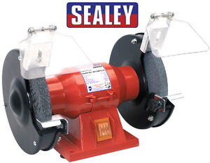 Sealey-150mm-6-Workshop-Bench-Grinder-Twin-Grinding-Stones-150w-240v-BG150CX