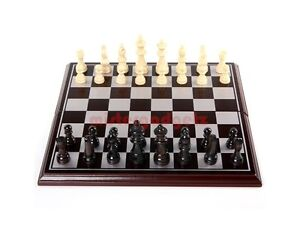New Luxury Foldable Wooden Chess Set + Portable + High Quality Wood + Felt Base
