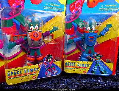 Gumby in Space robot & astronaut 2 figures sealed packages Trendmasters 1996