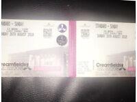 2 x Creamfields standard tickets