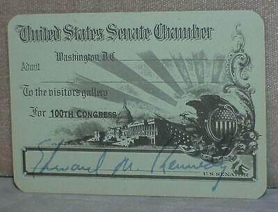 1987 100th Congress SENATE PASS signed Edward TED KENNEDY