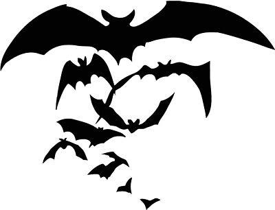 Bat Sticker Halloween Scary Horror Boo Car Window VINYL DECAL GOTH Vampire