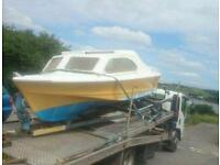 SOLD...............Shetland 535 project solid boat