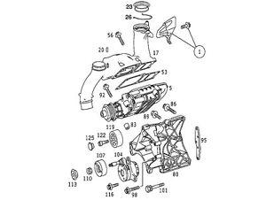 01 02 03 04 05 mercedes c230 slk230 kompressor belt pulley. Black Bedroom Furniture Sets. Home Design Ideas