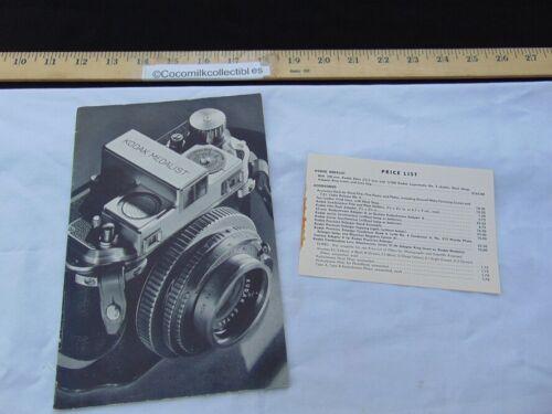 Vintage 1940s Sales Catalog Brochure Kodak Medalist Camera f.3.5 Lens Rochester