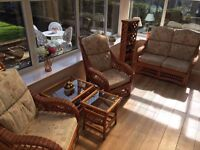 Conservatory furniture, 6 pieces in total, great condition