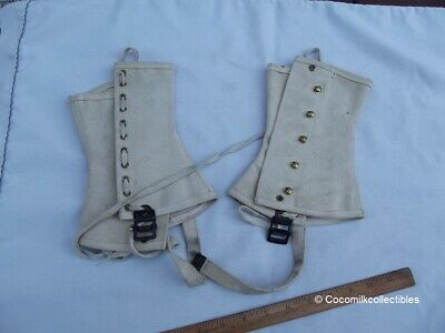 Spats, Gaiters, Puttees – Vintage Shoes Covers Vintage Dress White Boy Scouts of America BSA Official Leggings Spats Size Med M $14.09 AT vintagedancer.com