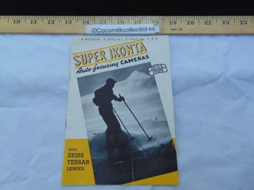 Vintage 1938 Sales Brochure Booklet Super Ikonta Camera with Zeiss Tessar Lenses