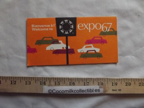 Vintage 1967 Brochure Welcome to Expo 67 Parking Info Autopark Montreal Canada