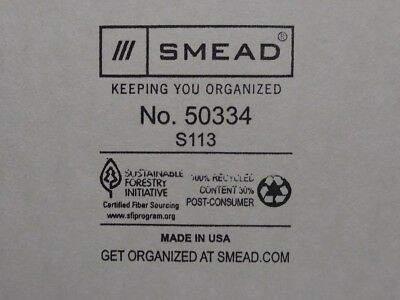Smead Recycled Tab File Guides Blank 1/3 Cut Tab Pressboard Letter 100/Box -