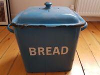 Reduced price : Vintage enamel bread bin