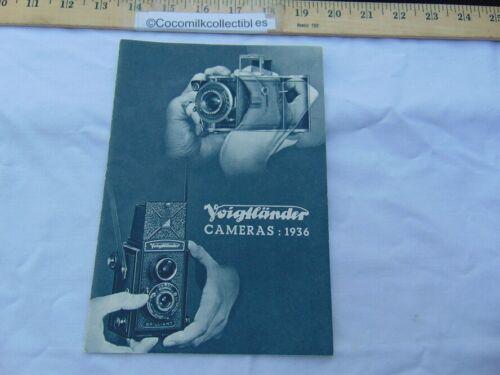 Vintage 1936 Sales Brochure Catalog Voigtlander Cameras Lenses Films Accessories