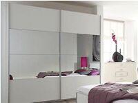 IKEA PAX LARGE WARDROBE SLIDING WHITE MIRROR DOORS