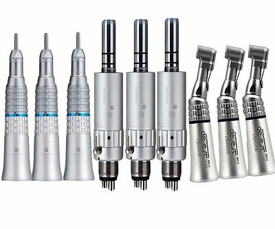 3 Dental Slow Low Speed Handpiece Contra Angle Straight Air Motor Nsk Type 4hole