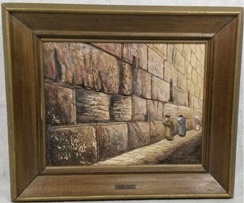 WAILING WALL JERUSALEM by Joseph Manobla Stone Sculpture