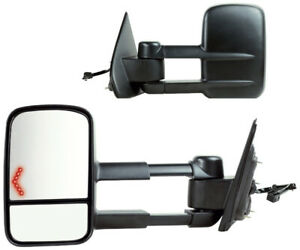 Power, Heated Towing Mirrors for Chevy Silverado, GMC Sierra NEW