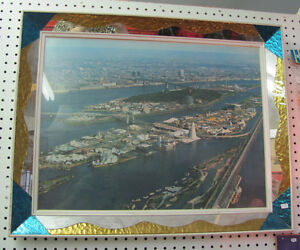 Large EXPO 67 Poster in Mirrored Glass Frame